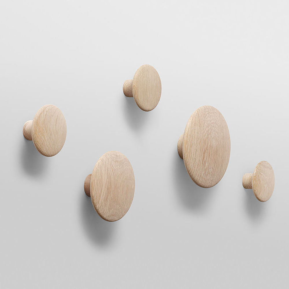 additional images & top3 by design - MUUTO NEW NORDIC - muuto | the dots | coat hooks | oak