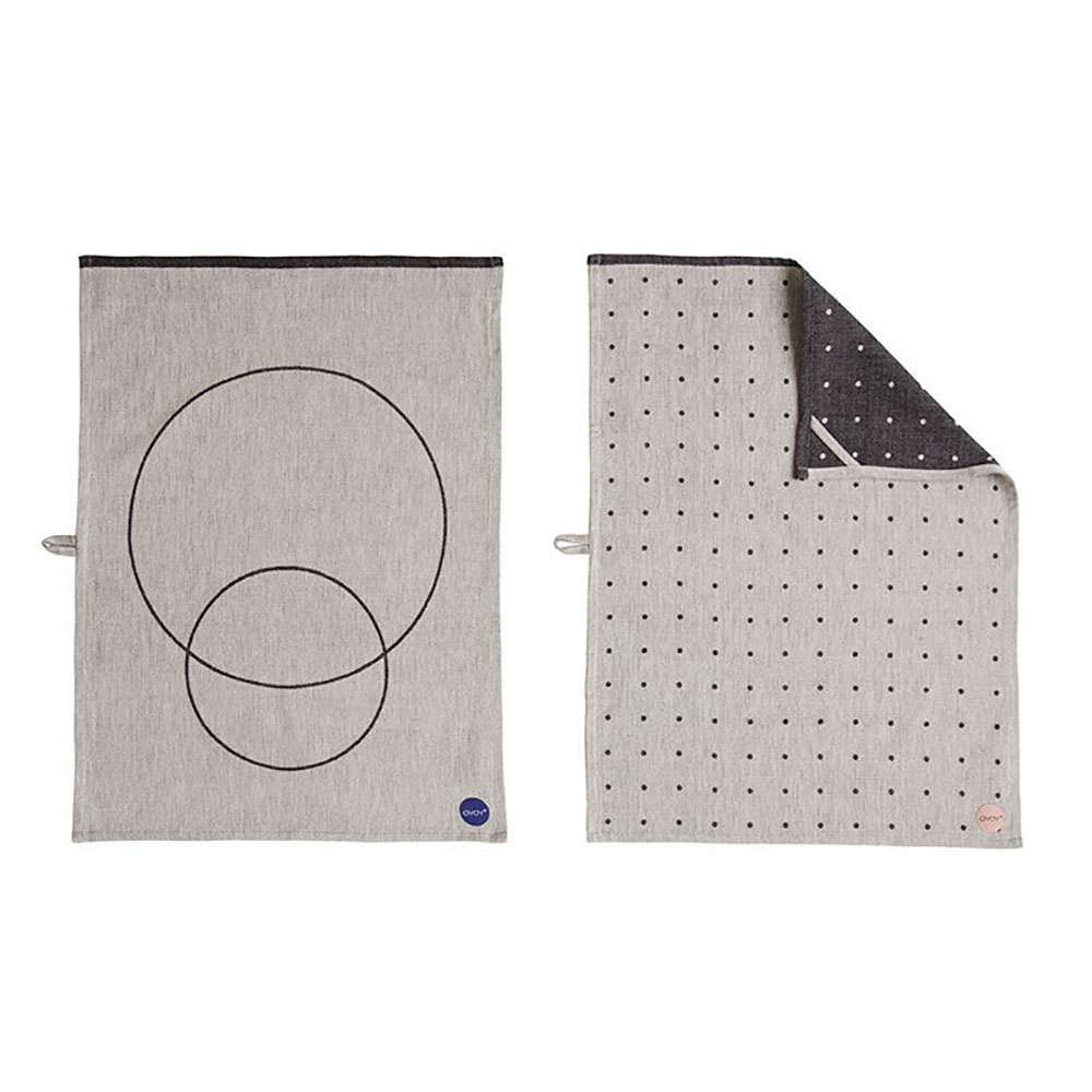 top3 by design oyoy circle tea towel 2pc. Black Bedroom Furniture Sets. Home Design Ideas