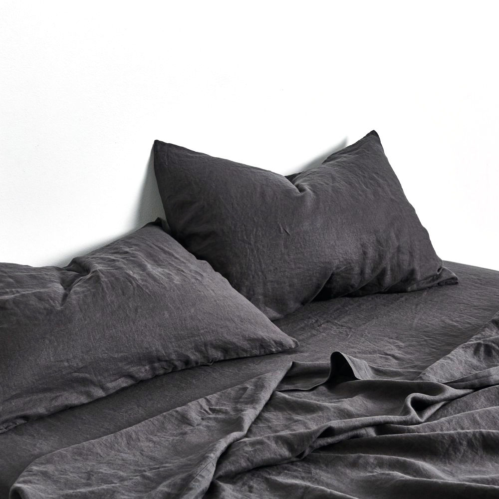Top3 By Design In Bed In Bed Pillowcase Linen Pair Kohl
