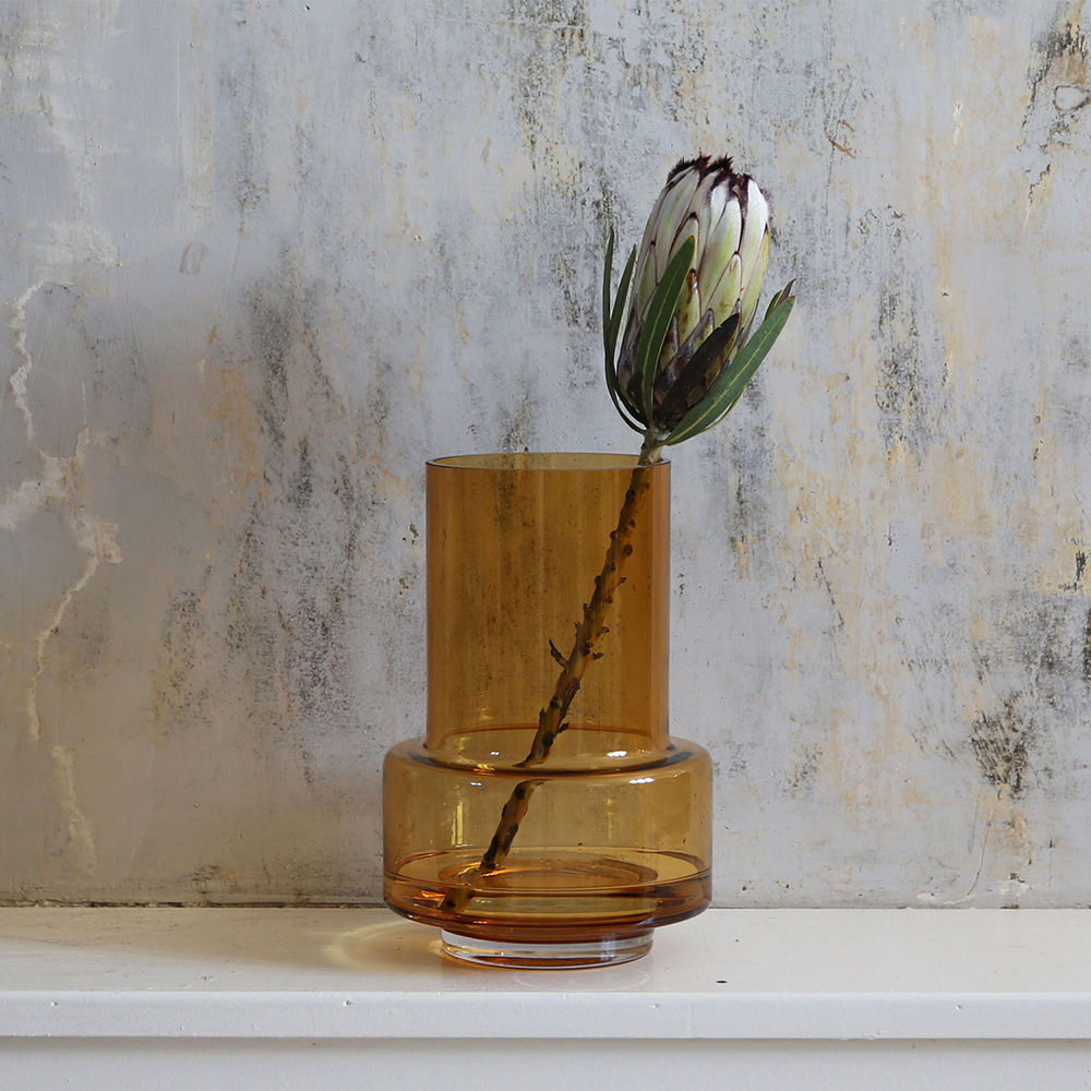 Top3 By Design Ro Ro Hurricane Vase No 26 Amber