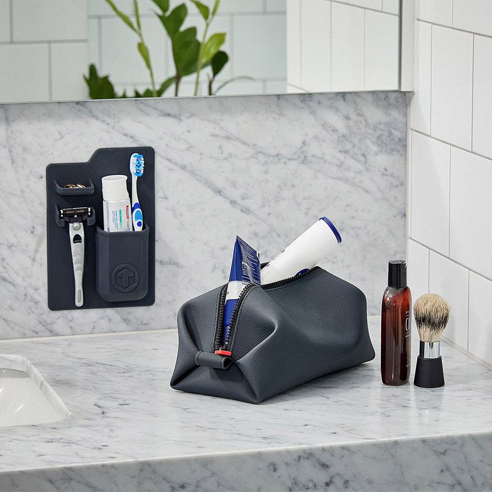 Top3 by design tooletries harvey toothbrush holder for Charcoal bathroom accessories