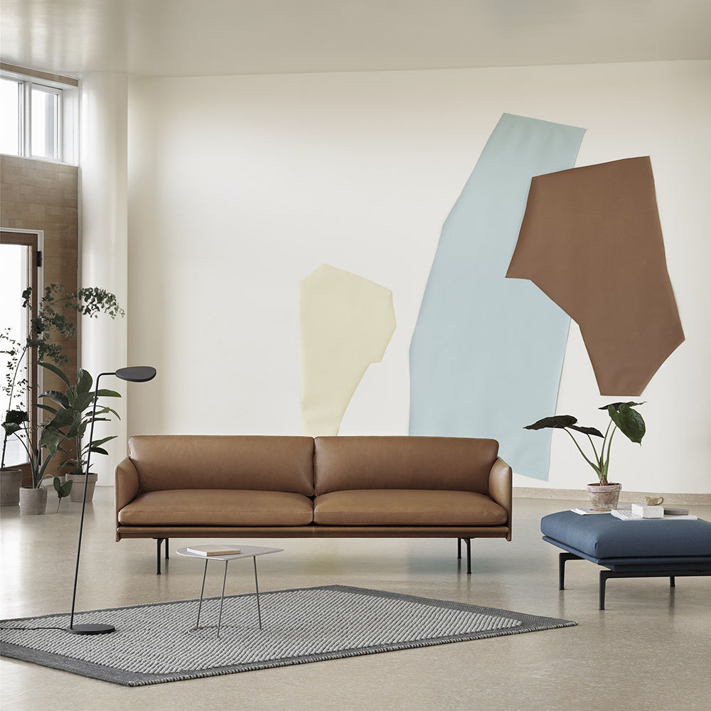 Top3 By Design Muuto New Nordic Muuto Outline Sofa 3 Seater Leather Cognac