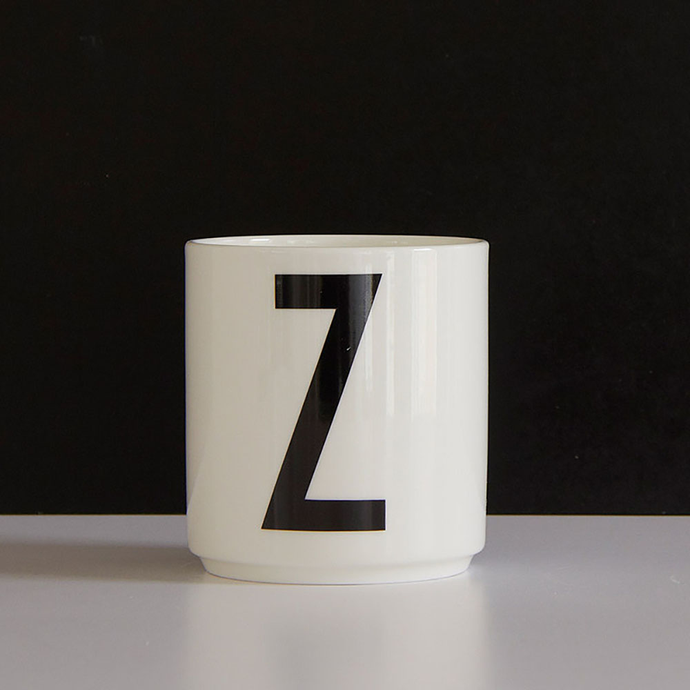 Top3 by design design letters aj porcelain cup z for Kitchen set letter l