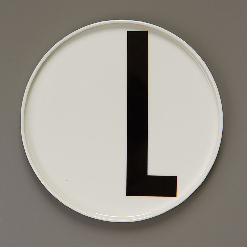 Top3 by design design letters aj porcelain plate l for Kitchen set letter l