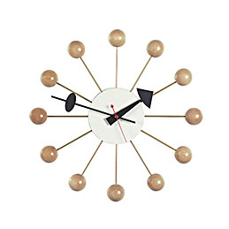 vitra george nelson ball clock wood colour 800