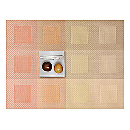 chilewich table engineered squares pale orange rectangle 800