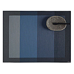 chilewich colour tempo placemat blue 800