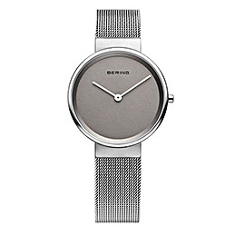bering watches grey mesh 14531 077 800
