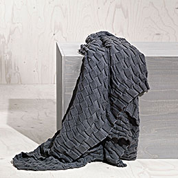 design house stockholm curly throw anthracite 5 1000
