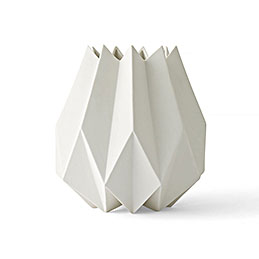 menu folded vase white tall 1000