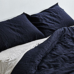 inbed linen navy pillowcases 1000