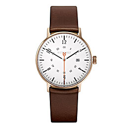 mister wolf watch model 116brown white gold 1000