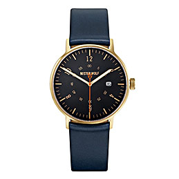 mister wolf watch model 134 navy gold black 1000