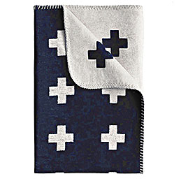 piawallen cross blanket navy and white 1000
