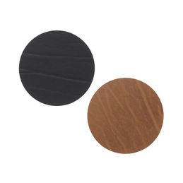 linddna glassmat round black nature 1000