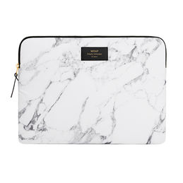laptop sleeve white marble 1 wouf 1000