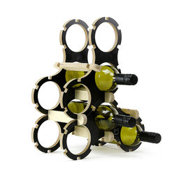 power to make wine rack black 6 bottle winerack black2 1000