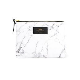 large pouch white marble wouf 1 1000