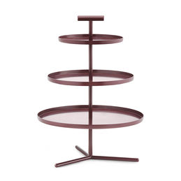 normann copenhagen glaze 3 tier cake stand dark red 1 1000