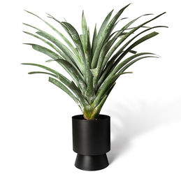 lightly palm springs planter large black lig 62blk p w1 1000