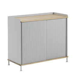 muuto enfold sideboard tall oak grey side 2 1000