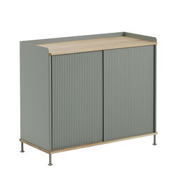 muuto enfold sideboard tall oak dusty green side 1000