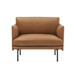 muuto outline chair cognac silk 1000