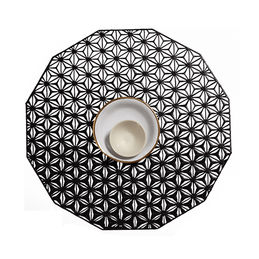 chilewich kaleidoscope black tablemat 1 1000