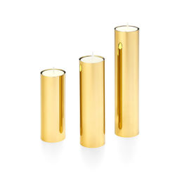 les basic spire candle holder 3 piece gold 1000