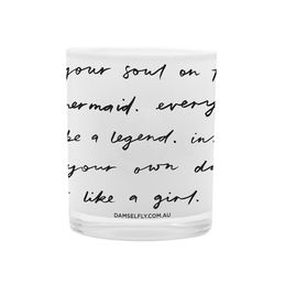 damselfly candle typography white 1000