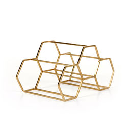 xlboom pico wine rack 3 brass 1000
