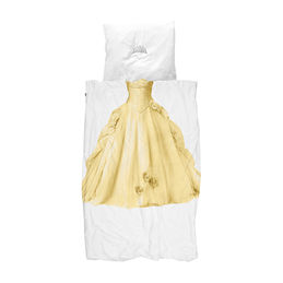 snurk quilt cover set princess yellow single 1 1000