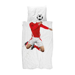 snurk quilt cover set soccer champ red single 1000