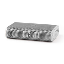 lexon miami time radio alarm clock white marble 1000