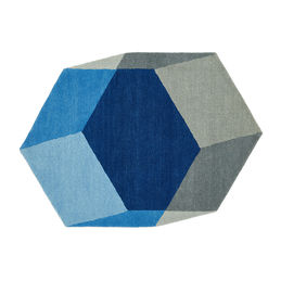 puik design iso hexagon rug blue 4 1000