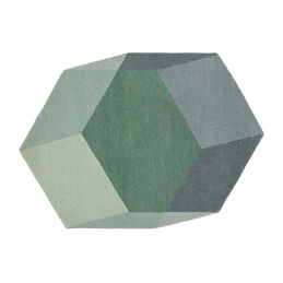 puik design iso hexagon rug green 1000