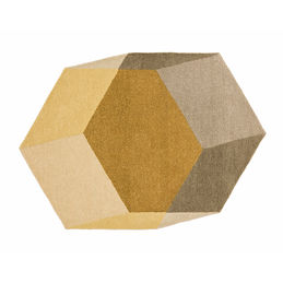 puik design iso hexagon rug yellow 1000