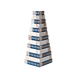 areaware blockitecture tower blue 8 1000