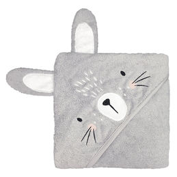 mister fly hooded towel bunny grey 1000