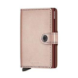 secrid miniwallet metallic rose burgundy 1000
