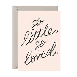 galina dixon so little so loved blush greeting card 1000