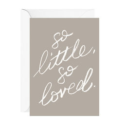 galina dixon so little so loved greeting card 1000