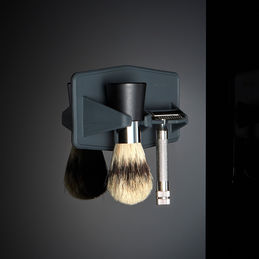 tooletries the maverick razor brush rack black 1000