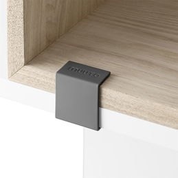 muuto stacked clips dark grey 1000