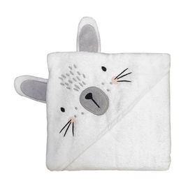 mister fly hooded towel bunny white 1000