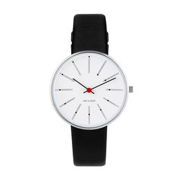 arne jacobsen bankers watch 34mm 53101 1601 face 1000