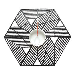 chilewich placemat pinwheel black 1000
