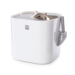 modkat kitty litter bin white 1000