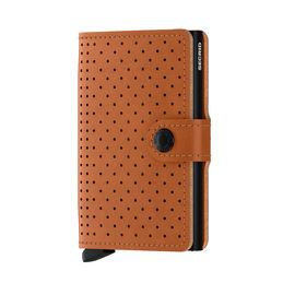 secrid miniwallet perforated cognac front 1000