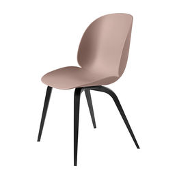 gubi beetle dining chair conic wood unupholstered black beech sweet pink main 1000